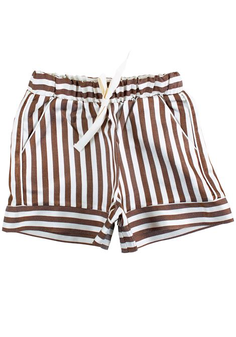 Shorts a righe bambina CAFFE' D'ORZO | Short | VIRGINIA06