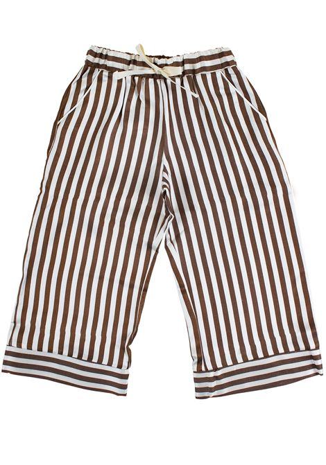 High waist striped pants for girls CAFFE' D'ORZO | Trousers | VIVIANA06