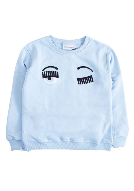 Girl sweatshirt with logo CHIARA FERRAGNI KIDS | Sweatshirts | CFKJM00302