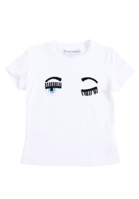 Girl t-shirt with applications CHIARA FERRAGNI KIDS | T-shirt | CFKT00900