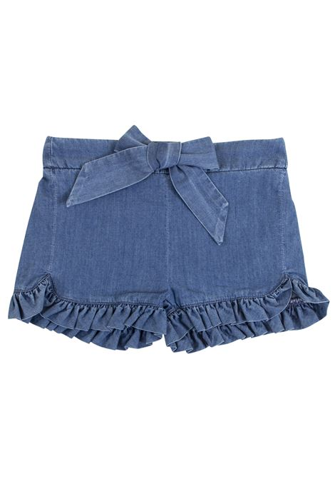 Newborn denim shorts with ruffles CHLOE' KIDS | Short | C04132Z10