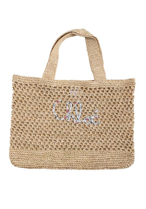 Little girl bag in straw CHLOE' KIDS | Bags | C10254Z40