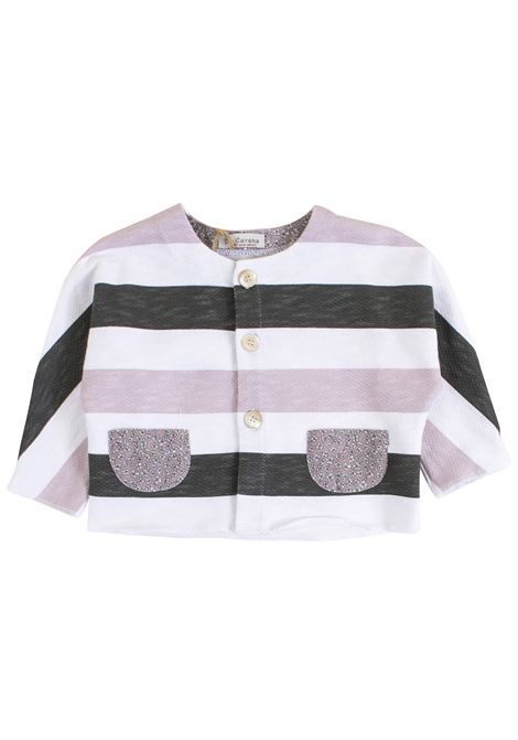 Newborn striped jacket DE CAVANA | Jackets | 06/918038065