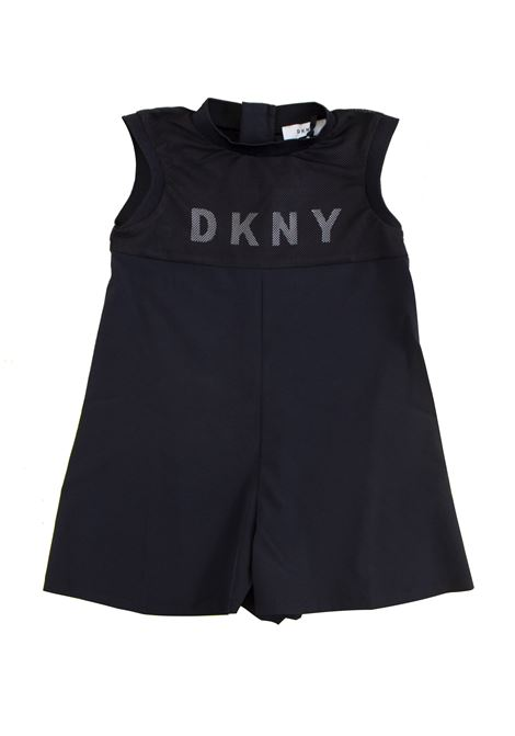 Little girl with print overalls DKNY KIDS | Suits | D3495309B