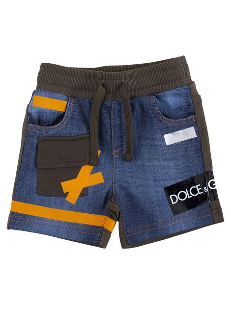 Stretch baby bermuda shorts DOLCE & GABBANA KIDS | Bermuda | L1JQE6 G7ROFS9000