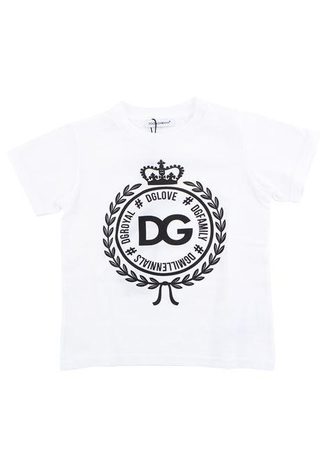 T-shirt neonato con logo DOLCE & GABBANA KIDS | T-shirt | L1JT7W G7RIFW0800