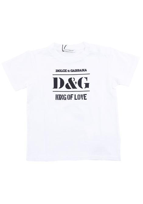 T-shirt neonato King of Love DOLCE & GABBANA KIDS | T-shirt | L1JT8E G7SBPHWK38