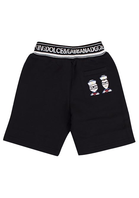 Bermuda shorts with patches DOLCE & GABBANA KIDS | L4JQD2 G7RZUN0000