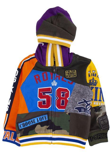 Kids sweatshirt with printed hood DOLCE & GABBANA KIDS | Sweatshirts | L4JW5L G7RIMHHJ69