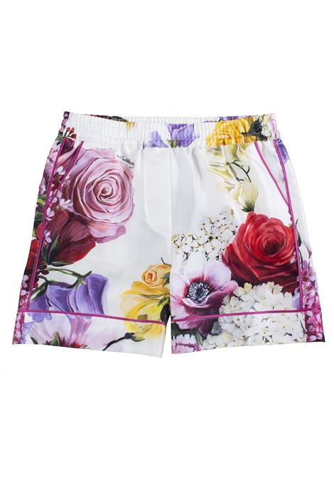 Girl's short with print DOLCE & GABBANA KIDS | Trousers | L52Q33 HS10DHAW86