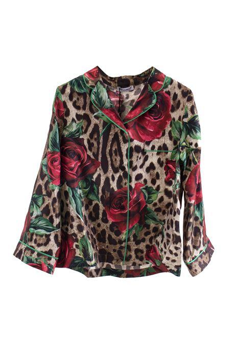 Little girl silk shirt DOLCE & GABBANA KIDS | Shirt | L53S76 HS1ZZHKIRS