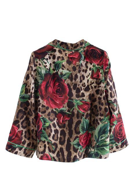 Little girl silk shirt DOLCE & GABBANA KIDS   L53S76 HS1ZZHKIRS