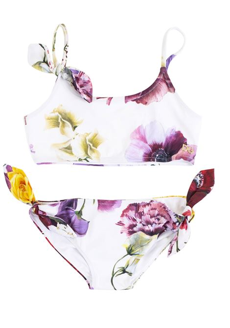 Swimsuit girls two pieces with flowers DOLCE & GABBANA KIDS | Swimsuits | L5J806 FSGO6HAW86