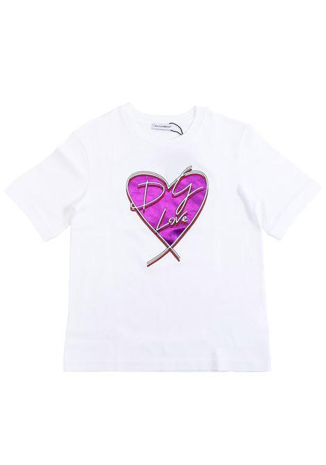 Girl print t-shirt DOLCE & GABBANA KIDS | T-shirt | L5JT9Z G7SCYW0800