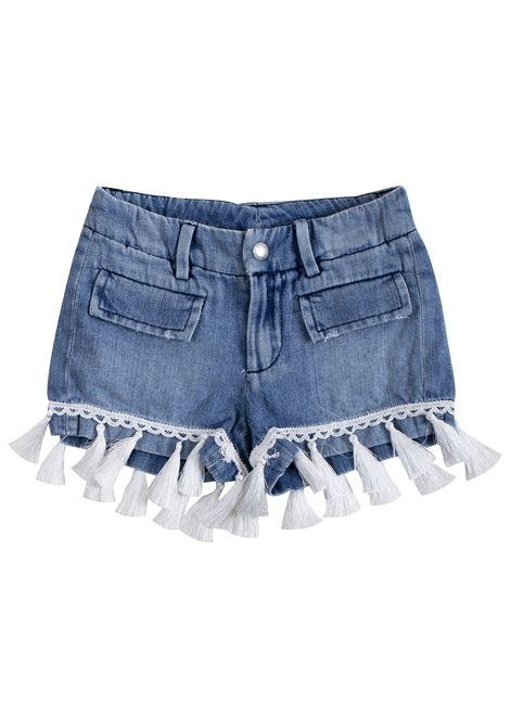 Little girl shorts with tassels DONDUP KIDS | Short | YP281N800