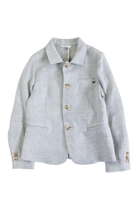 Linen baby jacket EMPORIO ARMANI KIDS | Jackets | 3G4GJ5 4N2SZ0625