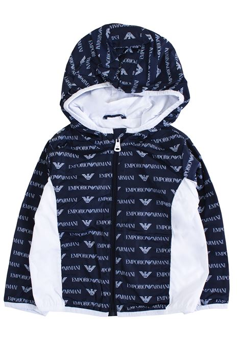 Newborn jacket with zip and logo EMPORIO ARMANI KIDS | Jackets | 3GHB11 4NHAZF121
