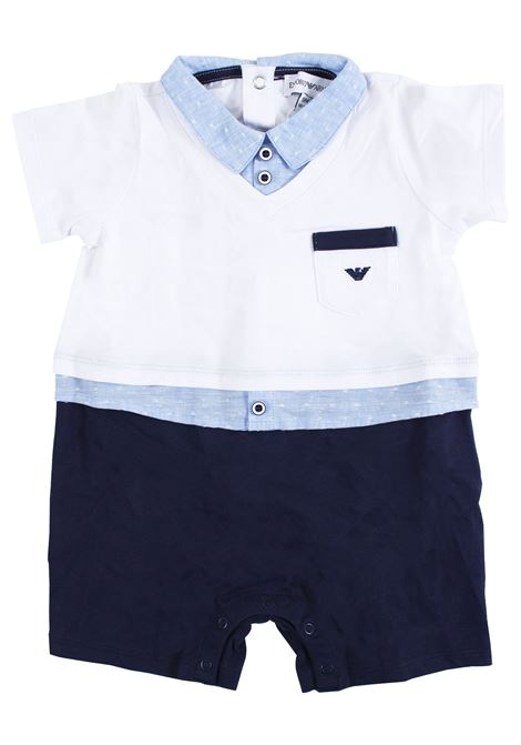 Newborn baby boy with polo shirt EMPORIO ARMANI KIDS | Newborn jumpsuits | 3GHD14 4NHFZF911