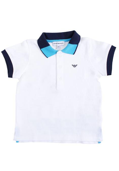 Newborn polo shirt with writing on the back EMPORIO ARMANI KIDS | Polo | 3GHF01 1J0SZ0100