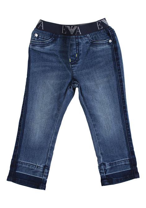 Newborn jeans with elastic waistband EMPORIO ARMANI KIDS | Jeans | 3GHJ07 4DFKZ0941
