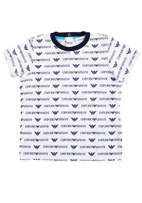 Baby T-shirt with logo EMPORIO ARMANI KIDS | T-shirt | 3GHT07 4J09ZF119