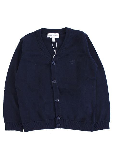 Newborn thread cardigan EMPORIO ARMANI KIDS | Cardigans | 8NHM90 4M0HZ0930