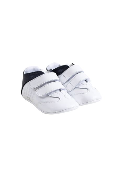 Newborn sneakers with velcro closure EMPORIO ARMANI KIDS | Shoes | XLX002 XON01B139