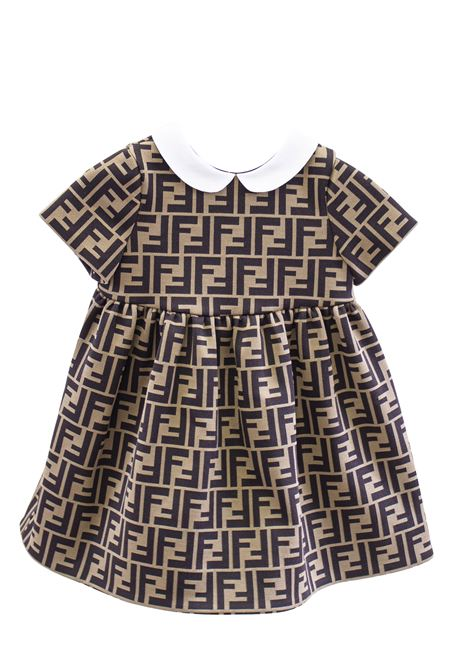 Newborn dress with logo FENDI KIDS | Dress | BFB188 A6A6F0E0X