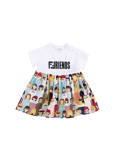 Newborn dress FENDI KIDS | Dress | BFB194 A6IAF0VU8