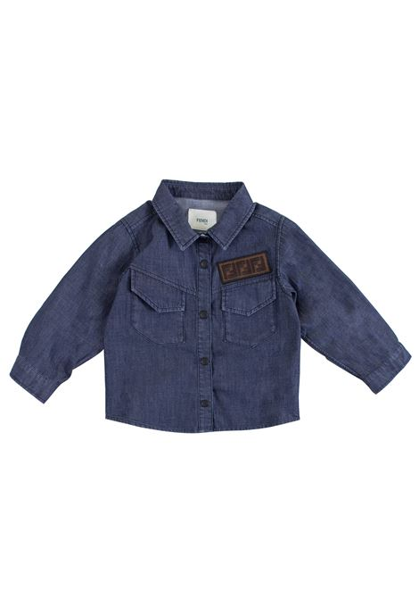 Newborn shirt with logo FENDI KIDS | Shirt | BMC048F15A4