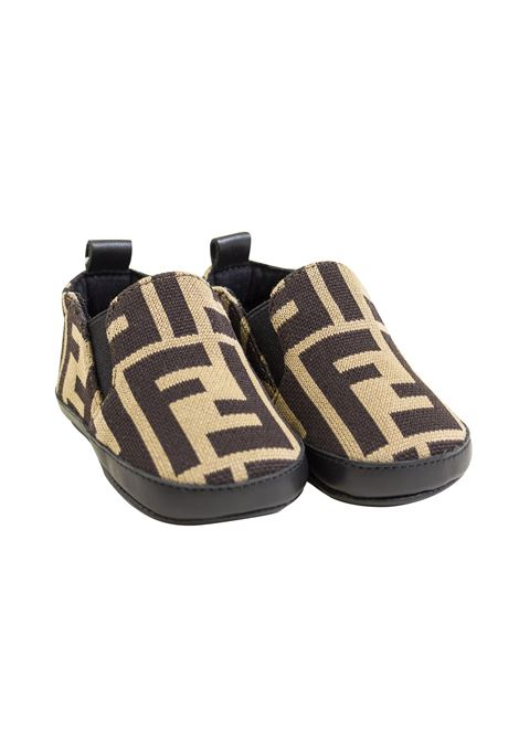 Newborn shoe without laces FENDI KIDS | Shoes | BMR058 A6A6F0E0X