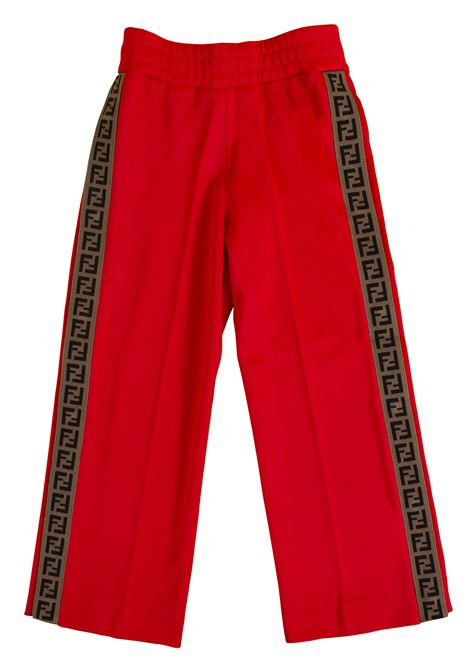 Girl's fleece pants FENDI KIDS | Trousers | JFF125 A69DF0QC9