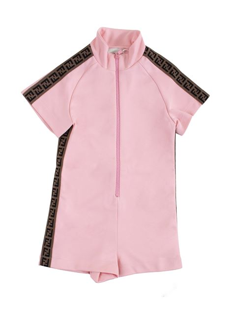 Girl's overalls with zip FENDI KIDS | Suits | JFF128 A69DF0AU4