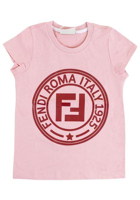 Girl print t-shirt FENDI KIDS | T-shirt | JFI151 7AJF0AU4