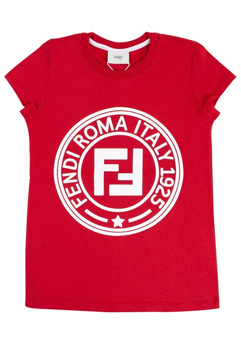 T-shirt bambina con stampa FENDI KIDS | T-shirt | JFI151 7AJF0QC9