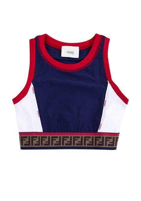 Girl's top with logo FENDI KIDS | Top | JFI152 A69UF0QV9