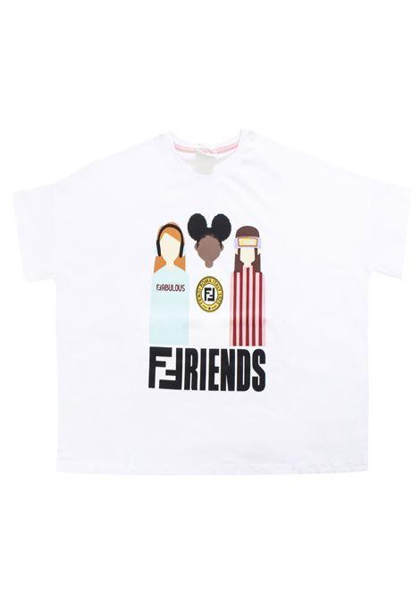 Girl print t-shirt FENDI KIDS | T-shirt | JFI156 7AJF0QA0