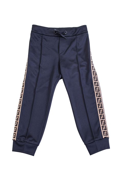 Baby trousers with logo FENDI KIDS | Trousers | JMF171 A69DF0QA1