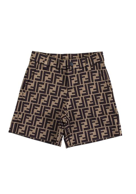 Bermuda shorts with logo FENDI KIDS | Bermuda | JMF176 A69JF0E0X