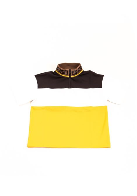 Half-zip child t-shirt FENDI KIDS | Sweatshirts | JMH088 A69EF0RX2