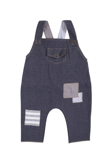 Newborn dungarees with patchwork FRUGOO KIDS | Salopette | S05545