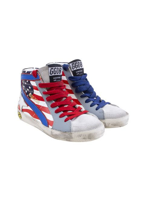 American flag child sneakers GOLDEN GOOSE KIDS | Shoes | G34KS308 E800