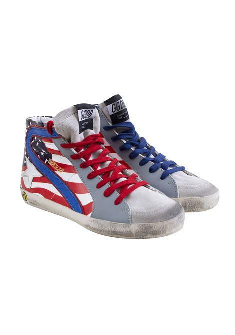 American flag child sneakers GOLDEN GOOSE KIDS | Shoes | G34KS508 E800