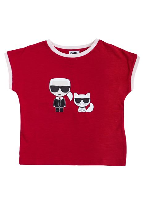 Girl print t-shirt KARL LAGERFELD KIDS | T-shirt | Z15179986