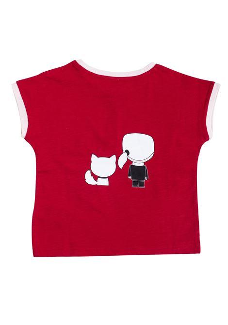 T-shirt bambina con stampa KARL LAGERFELD KIDS | Z15179986