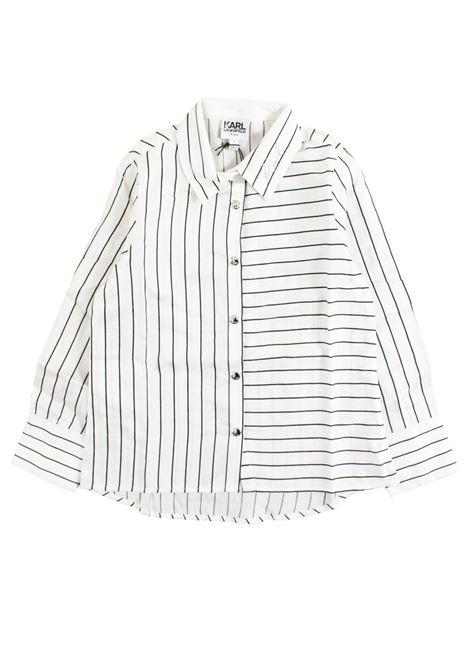 Pinstripe child's shirt KARL LAGERFELD KIDS | Shirt | Z15187Z40