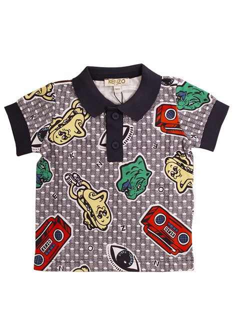 Newborn polo shirt with print KENZO KIDS | T-shirt | KN11508-BB01
