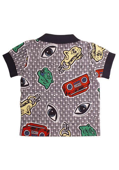 Newborn polo shirt with print KENZO KIDS | KN11508-BB01