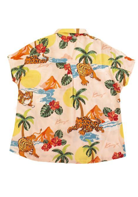 Girl shirt with print KENZO KIDS   KN1200832