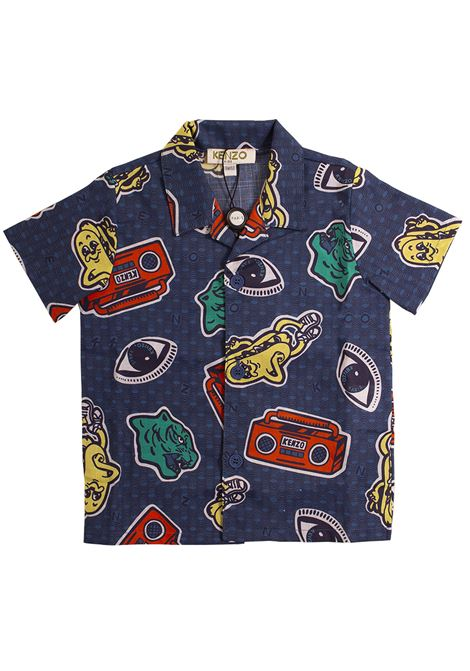 Camicia bambino stampata KENZO KIDS | Camicie | KN1250847